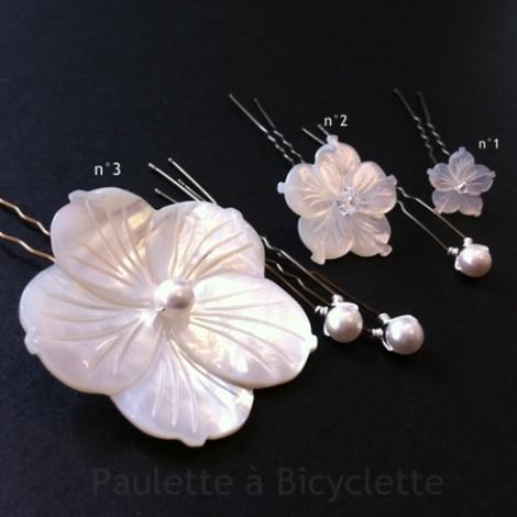 Fleur de nacre Paulette à Bicyclette
