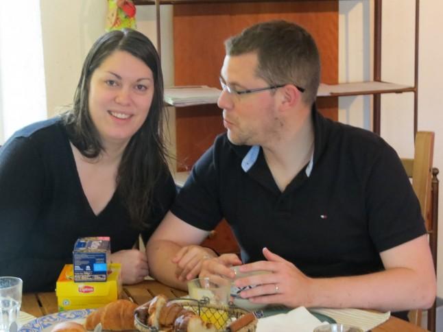 Petit-déjeuner des mariés