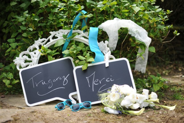 accessoires photobooth mariage turquoise Bretagne