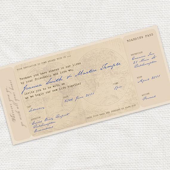 """Mon faire-part """"carte d'embarquement"""" + un tuto pour réaliser l'enveloppe !"""