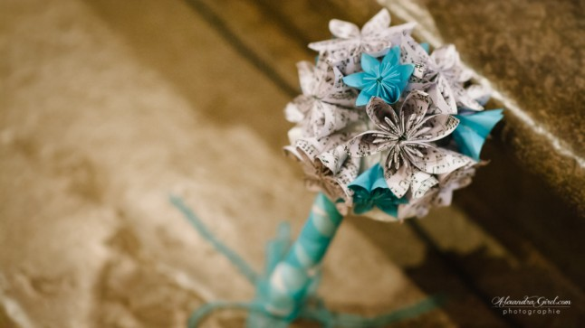 Bouquet DIY turquoise