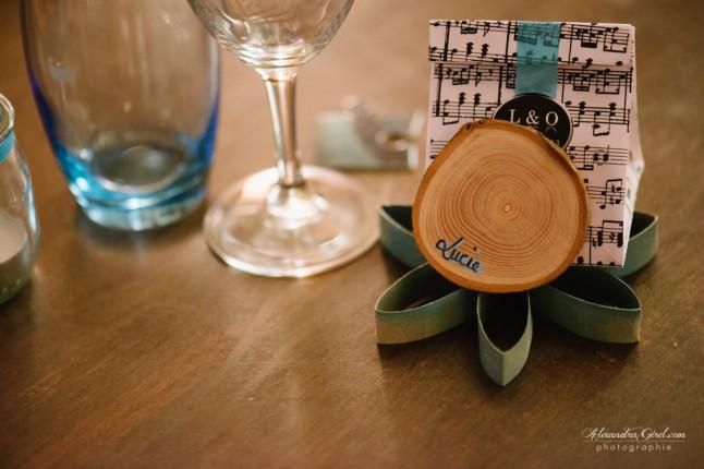 Porte-nom turquoise DIY