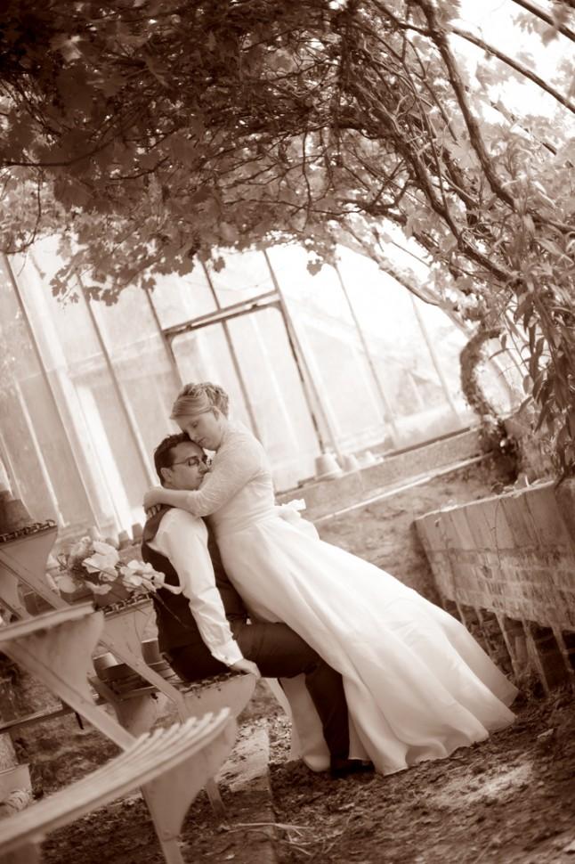 photo de couple serre mariage Bretagne