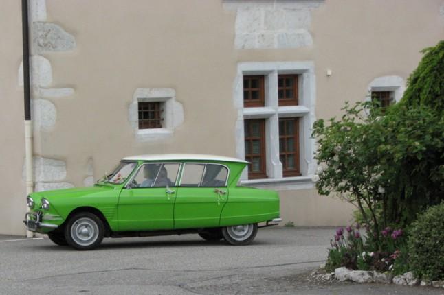 voiture verte mariage