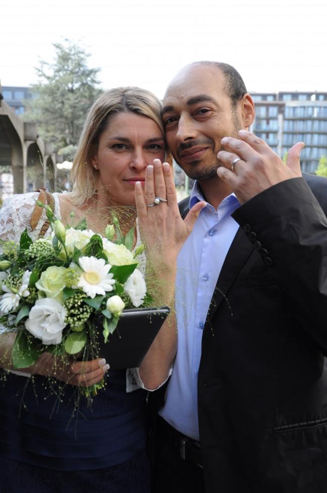 mariage à la mairie alliances