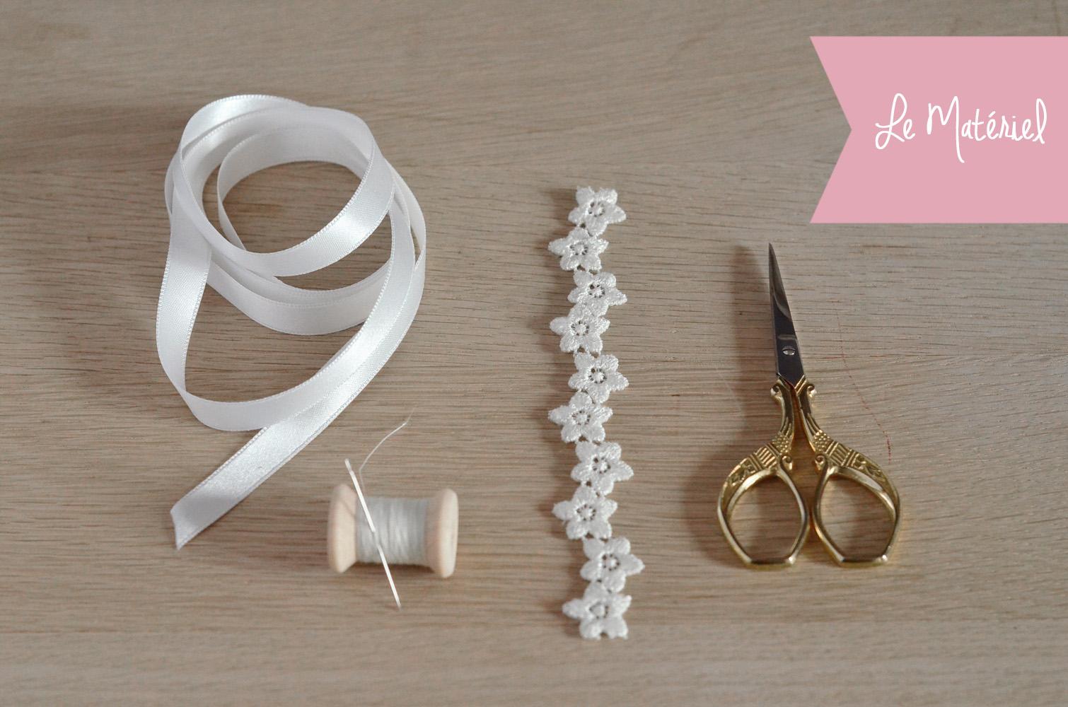 Tuto DIY : fabrique un joli headband de mariée facile !