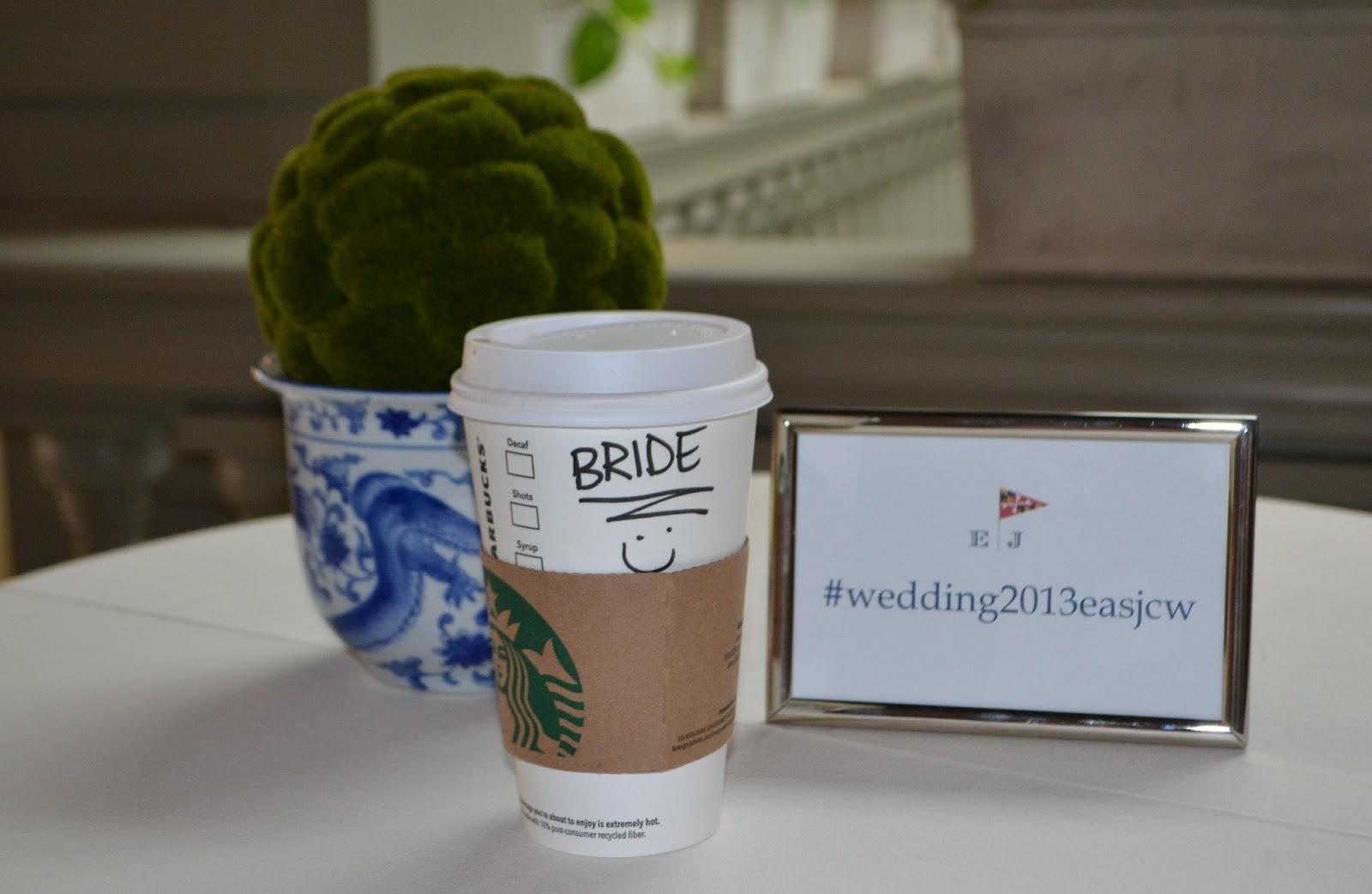 Wedding Day Coffee Starbucks