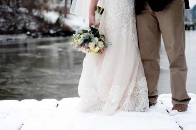 Accessoires mariage d'hiver