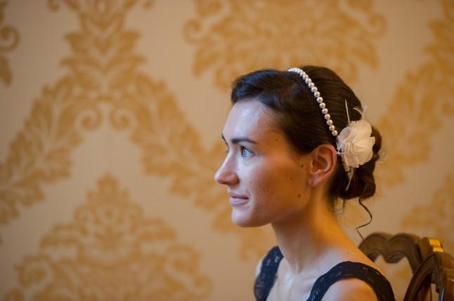 Mariage civil à Venise préparatifs coiffure mariée