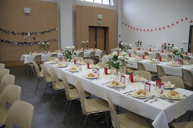 décoration de salle et de tables