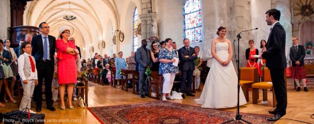 cérémonie de mariage église