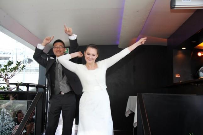 Danse entrée des mariés péniche