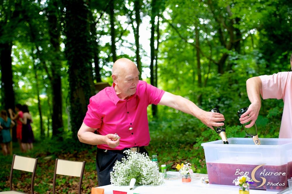 Vin d'honneur mariage en forêt