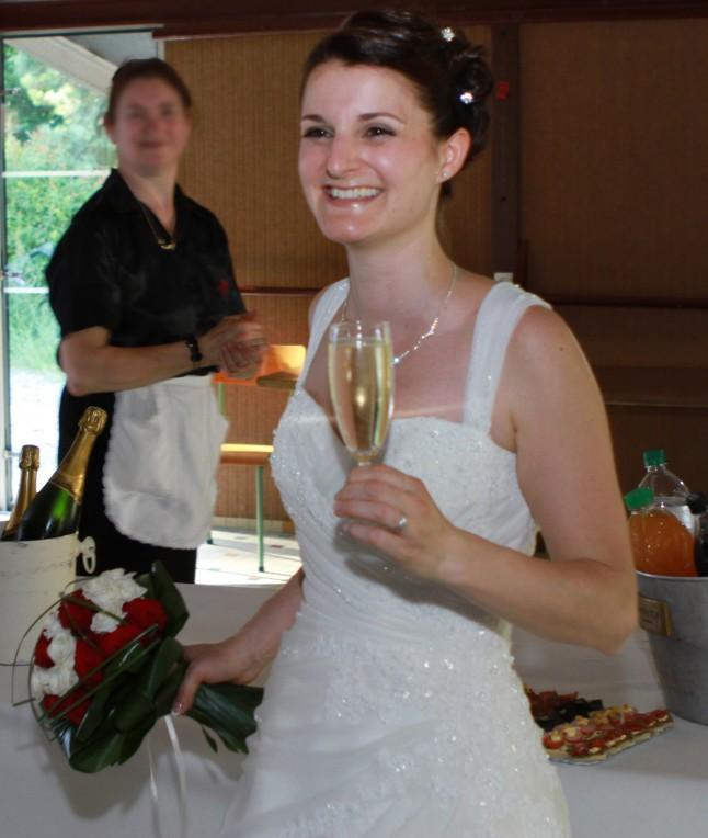 Vin d'honneur mariée