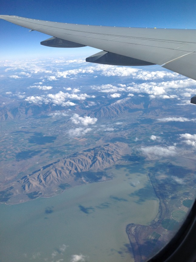 Voyage de noce vue d'avion
