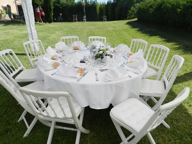 déco de table mariage blanc