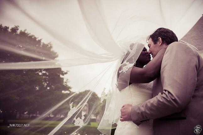 photo de couple mariage voile