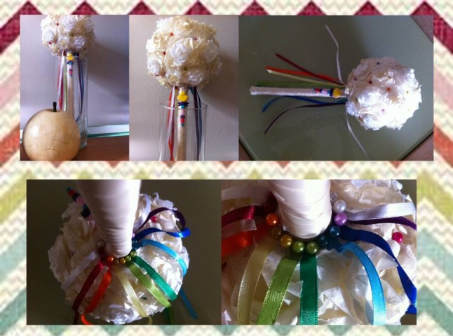 Bouquet de mariée thème enfance