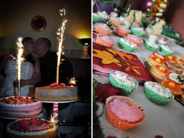 gâteaux de mariage buffet de cupcakes