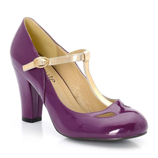 Chaussures de mariée couleur violet