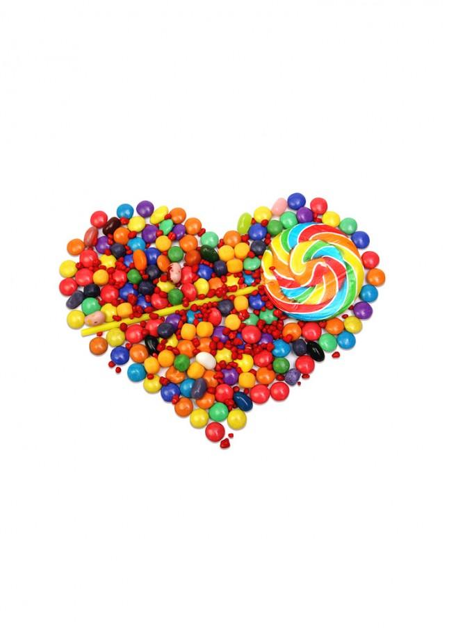cœur de bonbons