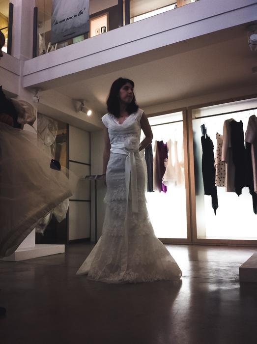 Essayages de robe de mariée pas convaincant