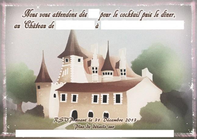 Carton d'invitation réception mariage personnalisé