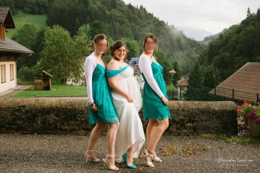Photos mariée et ses témoins
