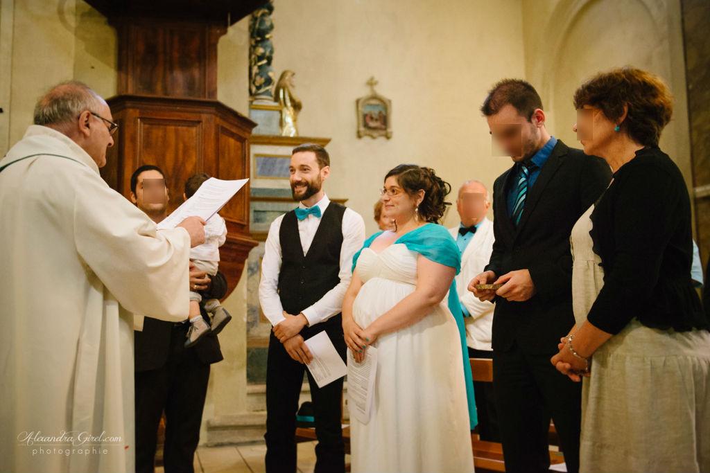 Mon mariage turquoise et baby bump : la cérémonie religieuse