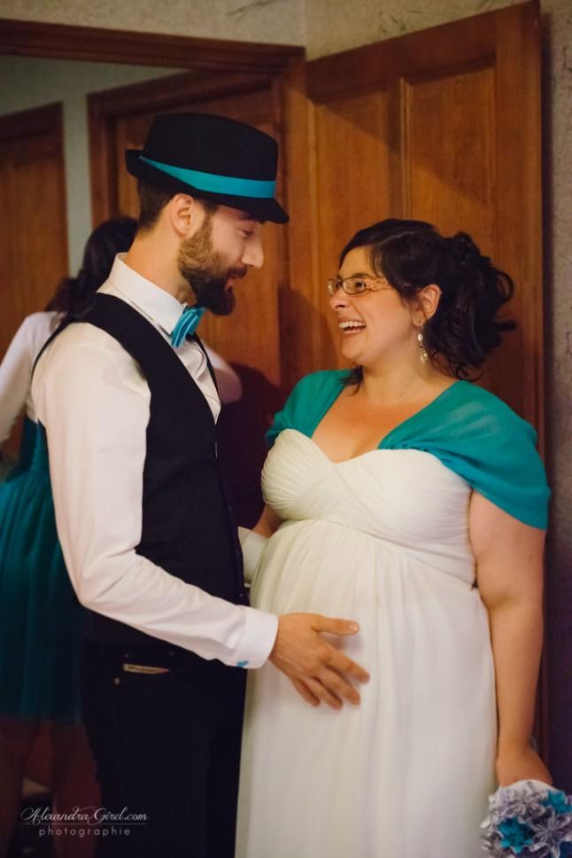 Futurs mariés mariage turquoise