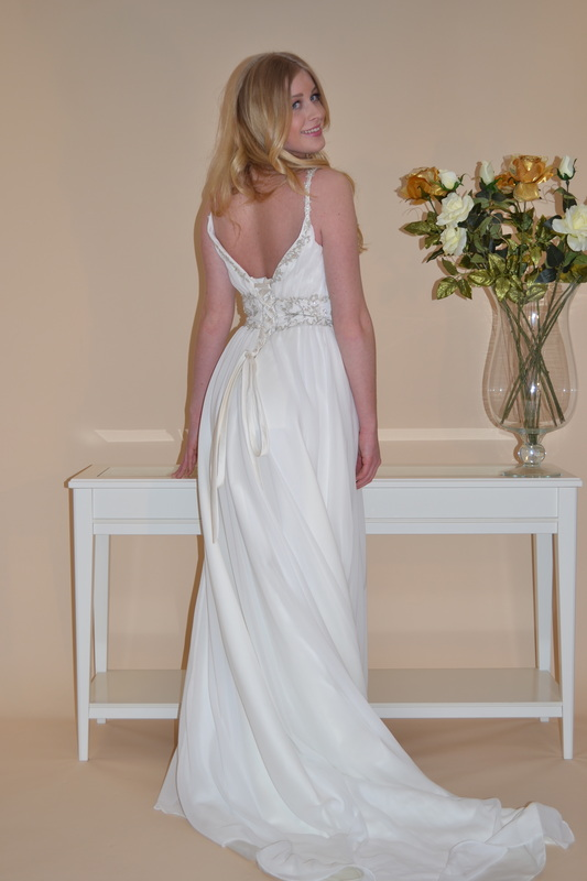 robe de mariée fluide dos