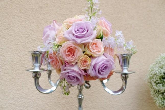 Chez Fleur déco florale mariage chandelier