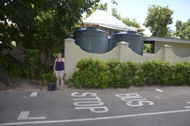 Bus stop voyage de noce aux Seychelles
