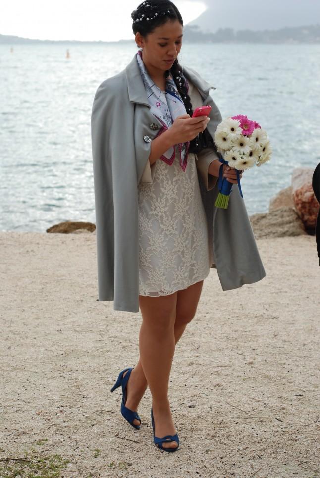 la mariée et son portable