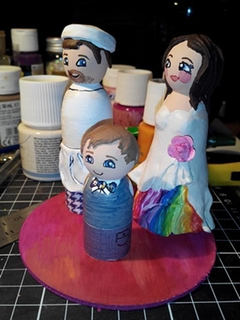 Cake-toppers mariage personnalisés