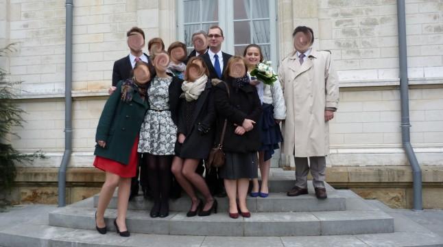 Photo de groupe mariage civil