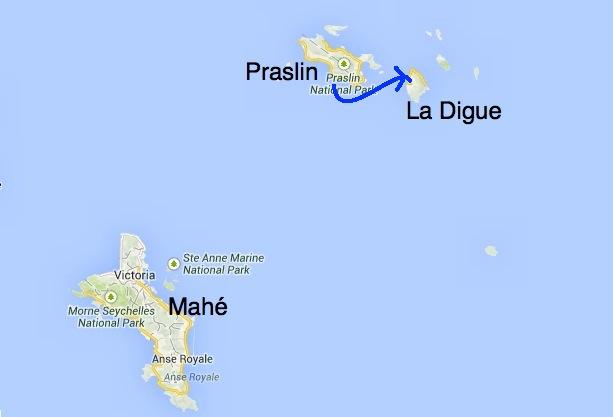 Trajet vers La Digue voyage de noce aux Seychelles