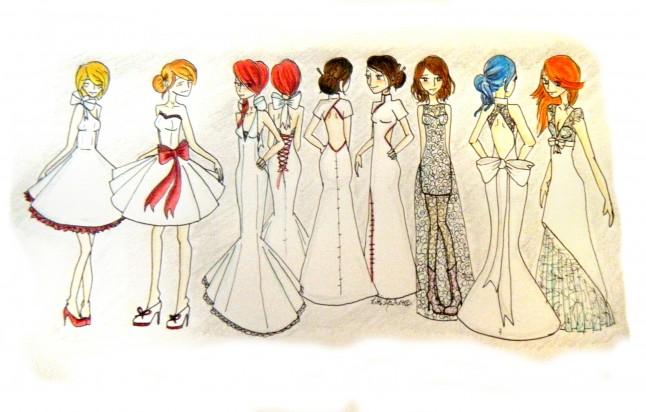 Dessins modèles de robes de mariée