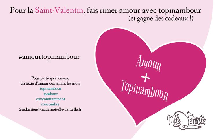 Concours Saint Valentin Mademoiselle Dentelle