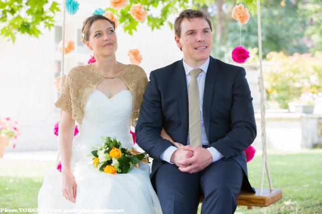 cérémonie laïque mariés sur la balançoire