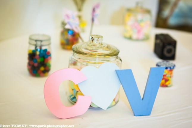 déco de mariage candy bar initiales