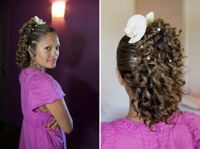 mariage couleurs Indonésie - préparatifs coiffure mariée