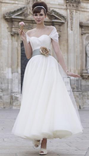 robe de mariée style Bardot