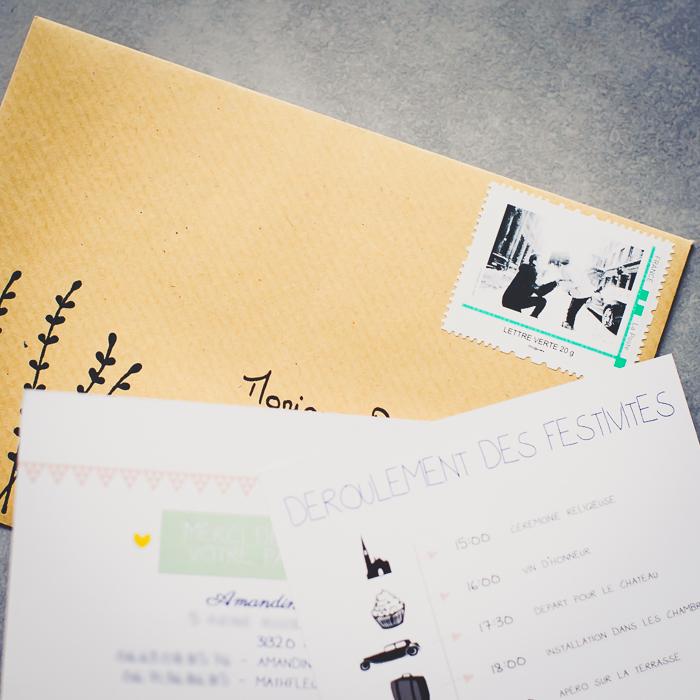 faire-part DIY timbre personnalisé
