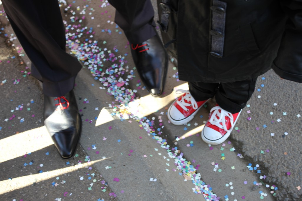 Confettis mariage détail
