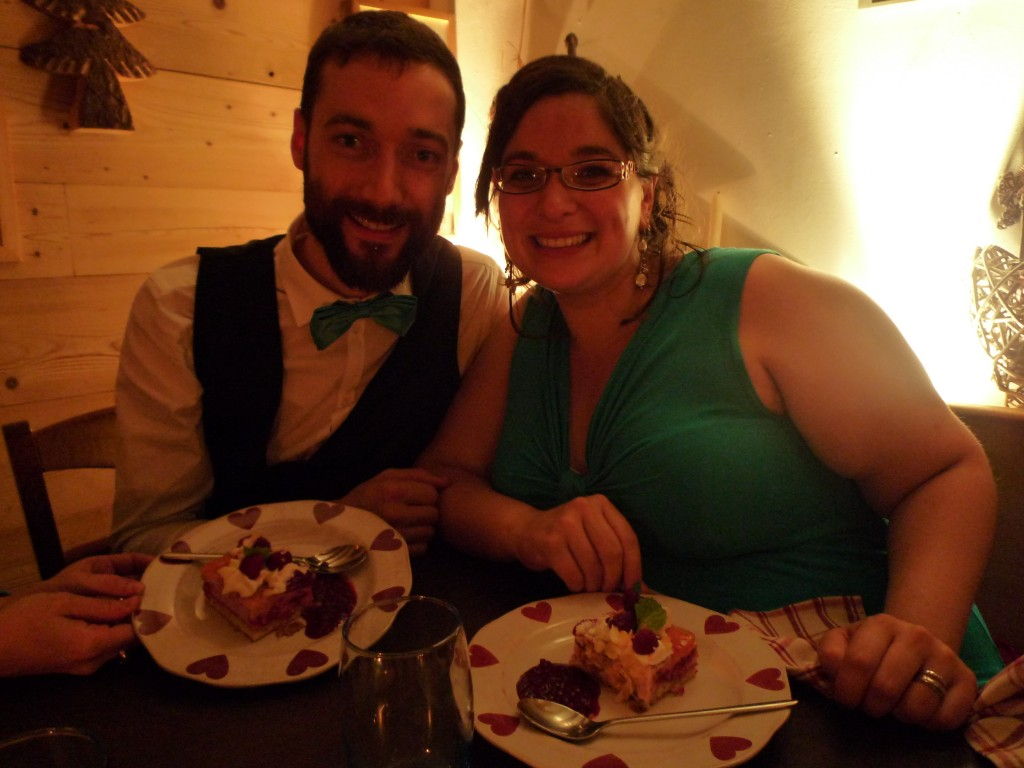 repas de mariage dessert