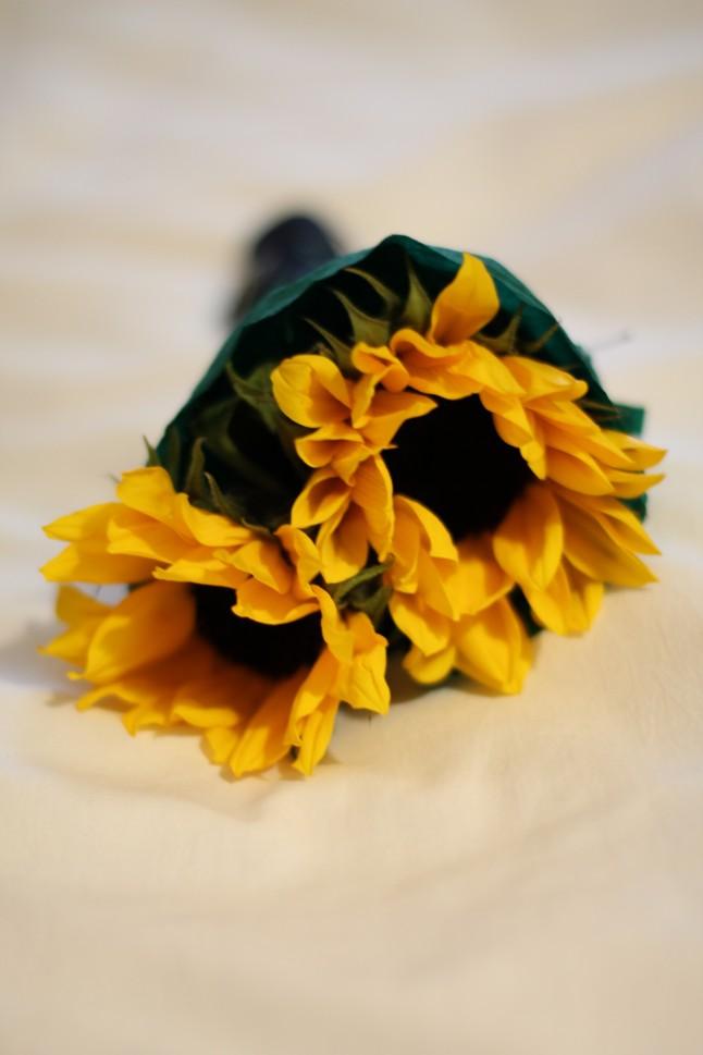 Bouquet tournesols témoins de mariage