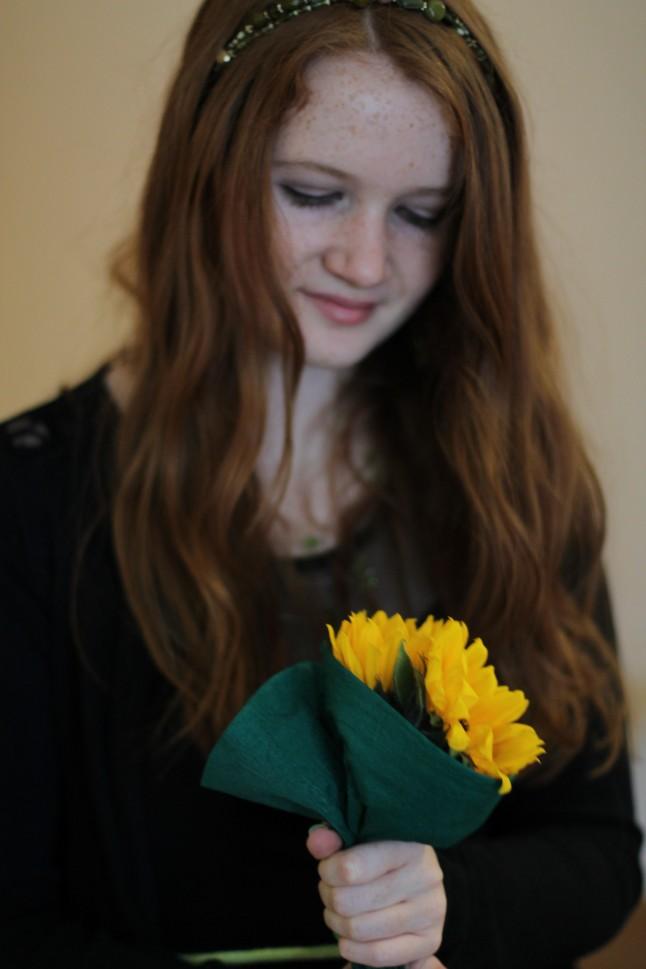 Bouquet tournesols demoiselles d'honneur mariage
