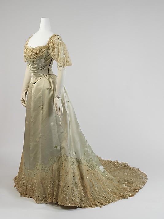 Robe du soir 19ème siècle