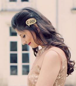 Bijou de coiffure future mariée style rétro